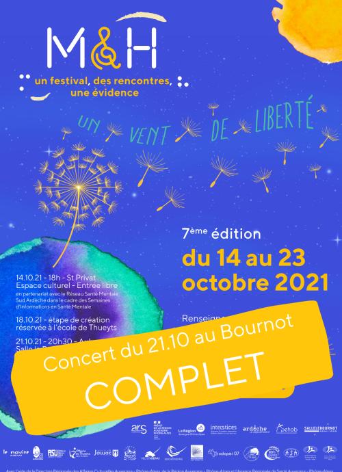 Concert du 21.10 au Bournot COMPLET